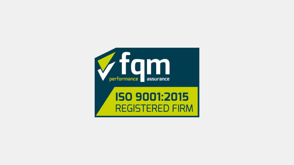 logo - fqm performance assurance, ISO 9001:2015 Registered Firm