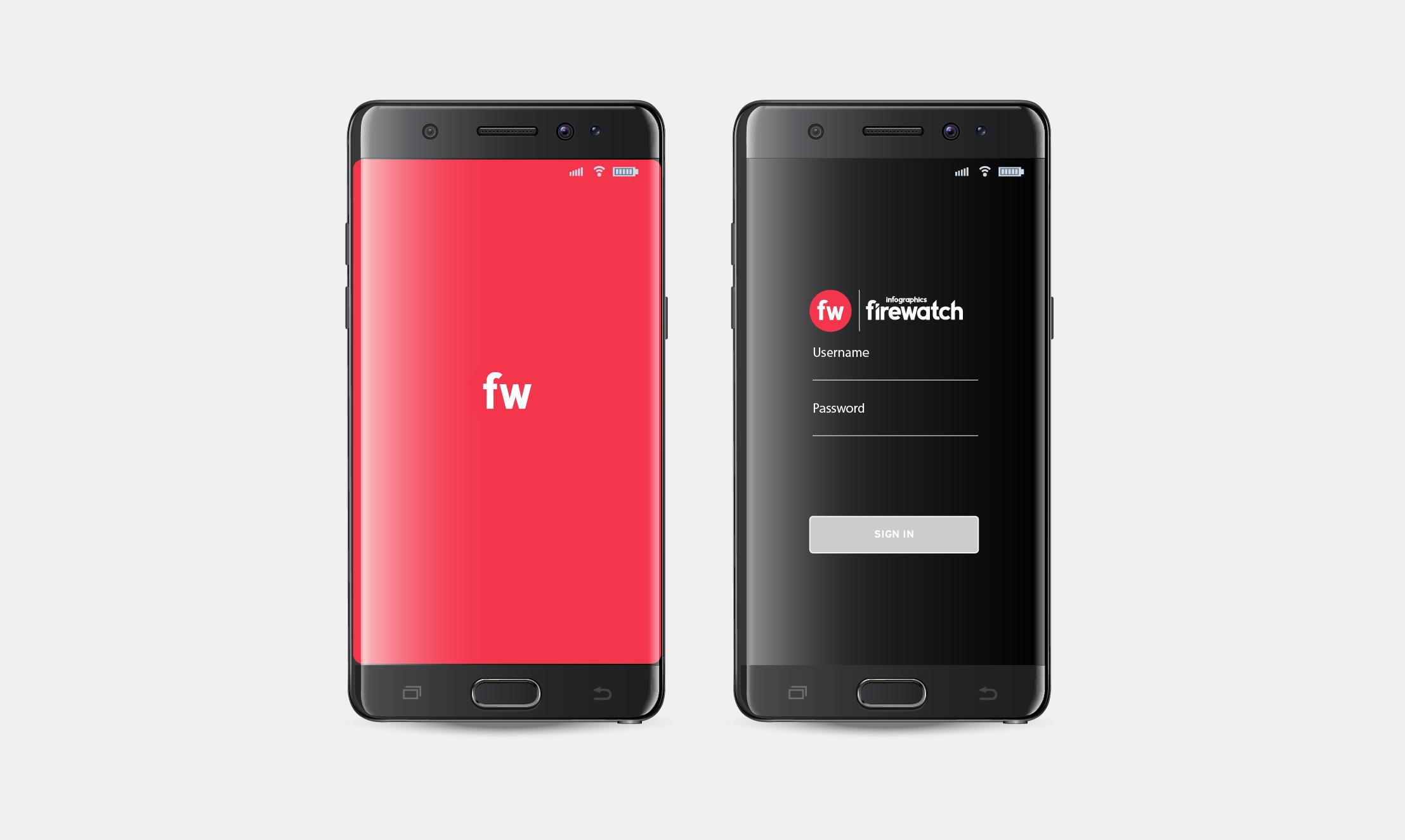FireWatch mobile app screenshot